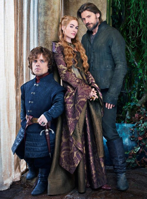 Jaime with his twin sister Cersei and his brother Tyrion