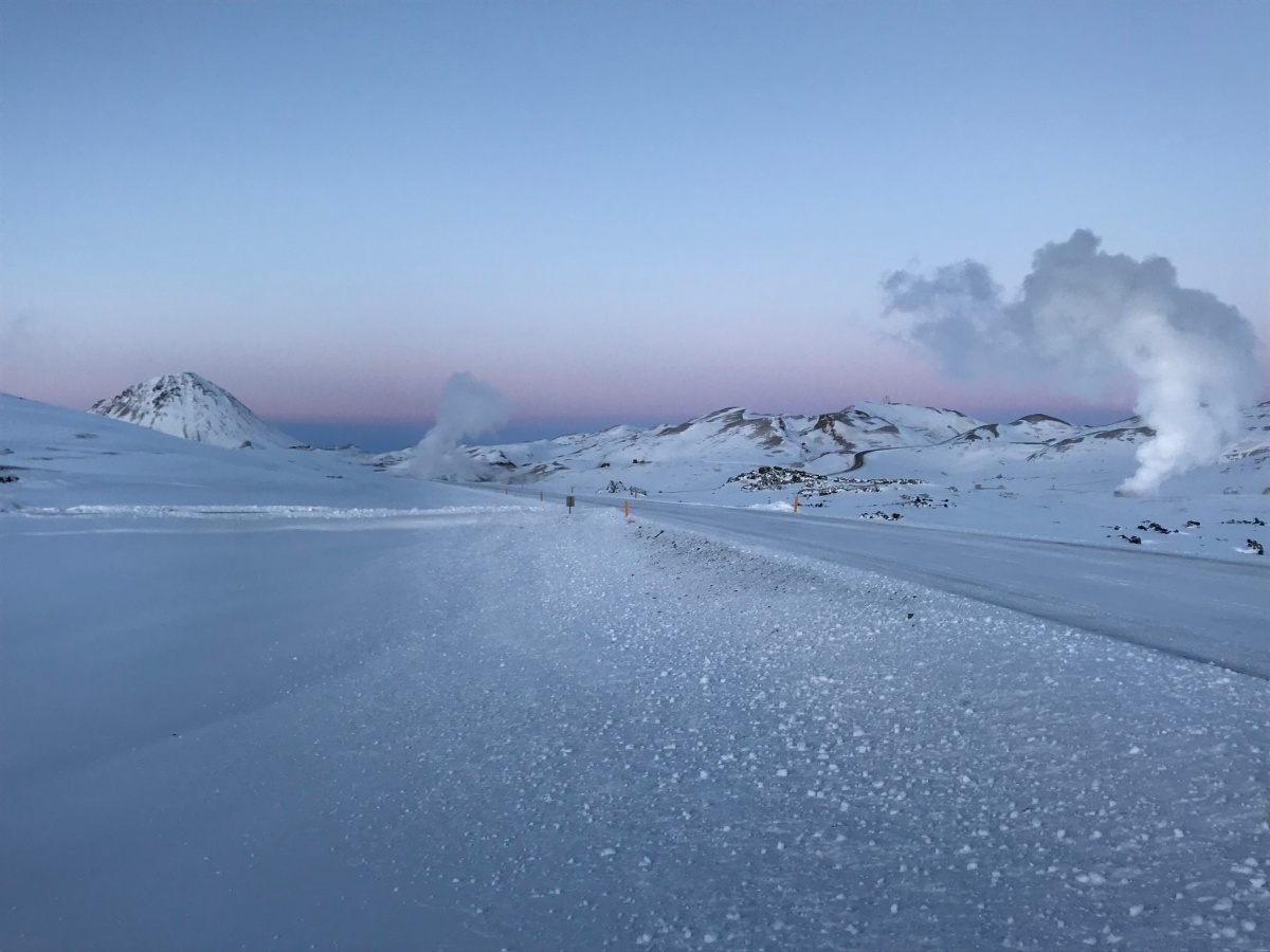The area around lake Myvatn